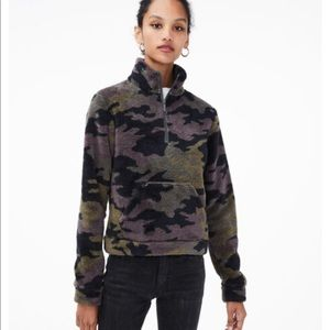 Areopostale Camo Fleece Pullover w/ pocket